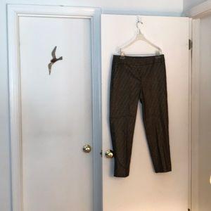 Ann Taylor Loft black and gold metallic slacks